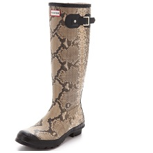 Hunter Boots Snake Print Rain Boots